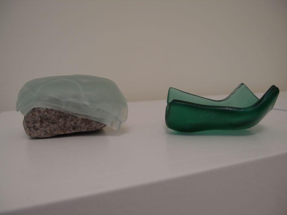 Rock slumped vessels