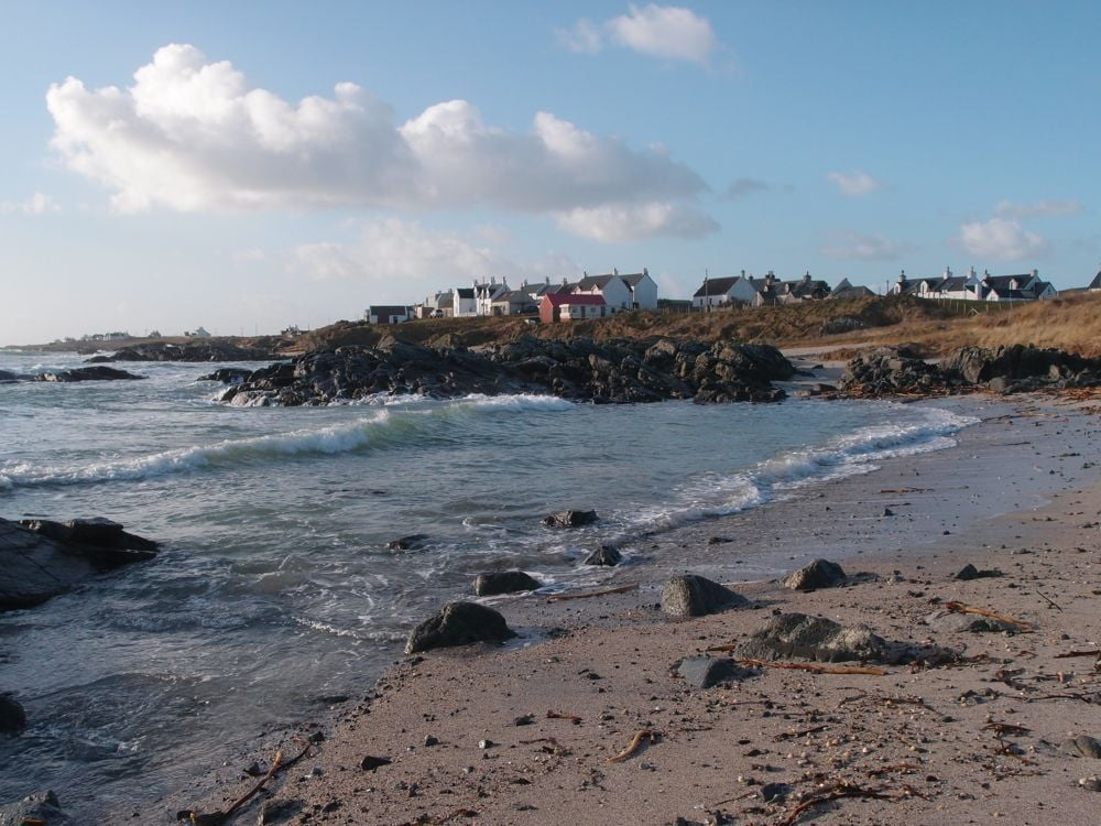 Balemartine - sea glass central (' there was a midden for the Township at the top of the beach in front of the houses ')