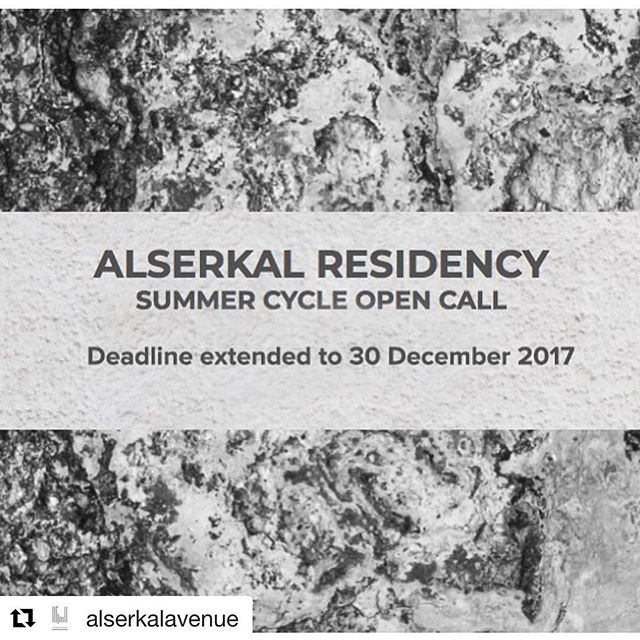 #Repost @alserkalavenue (@get_repost) ・・・ Alserkal Residency is looking for artists, writers, curators and researchers who are currently citizens of or residents in the GCC for their Summer Cycle 2018. . The programme will run from 1 June 2018 - 31 July 2018. Proposals are reviewed competitively by our Selection Committee. . Apply through link in bio. More information on our website: http://alserkalavenue.ae
