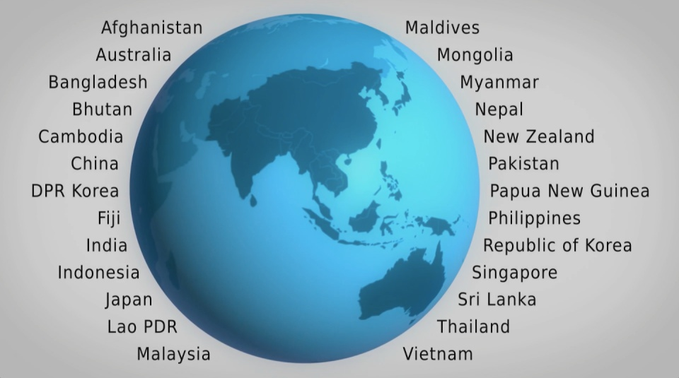 Image from film: Asia Pacific participating countries