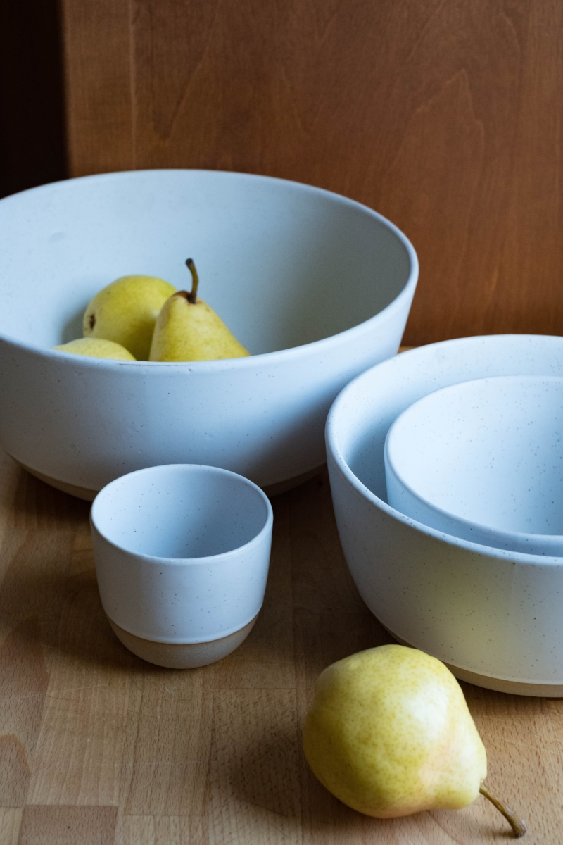 Nested bowls and pears