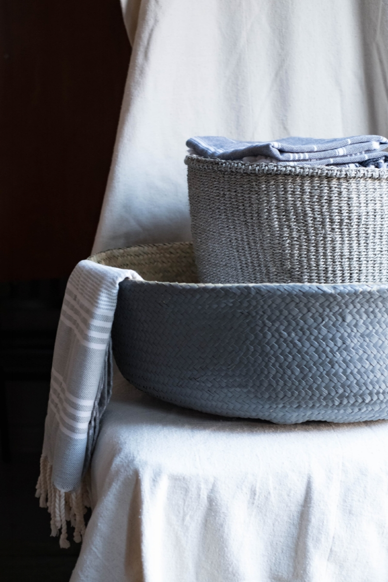 Woven baskets and blankets