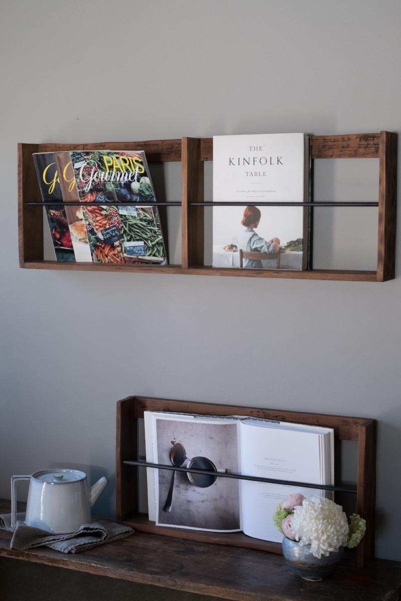 Wall racks and teapot