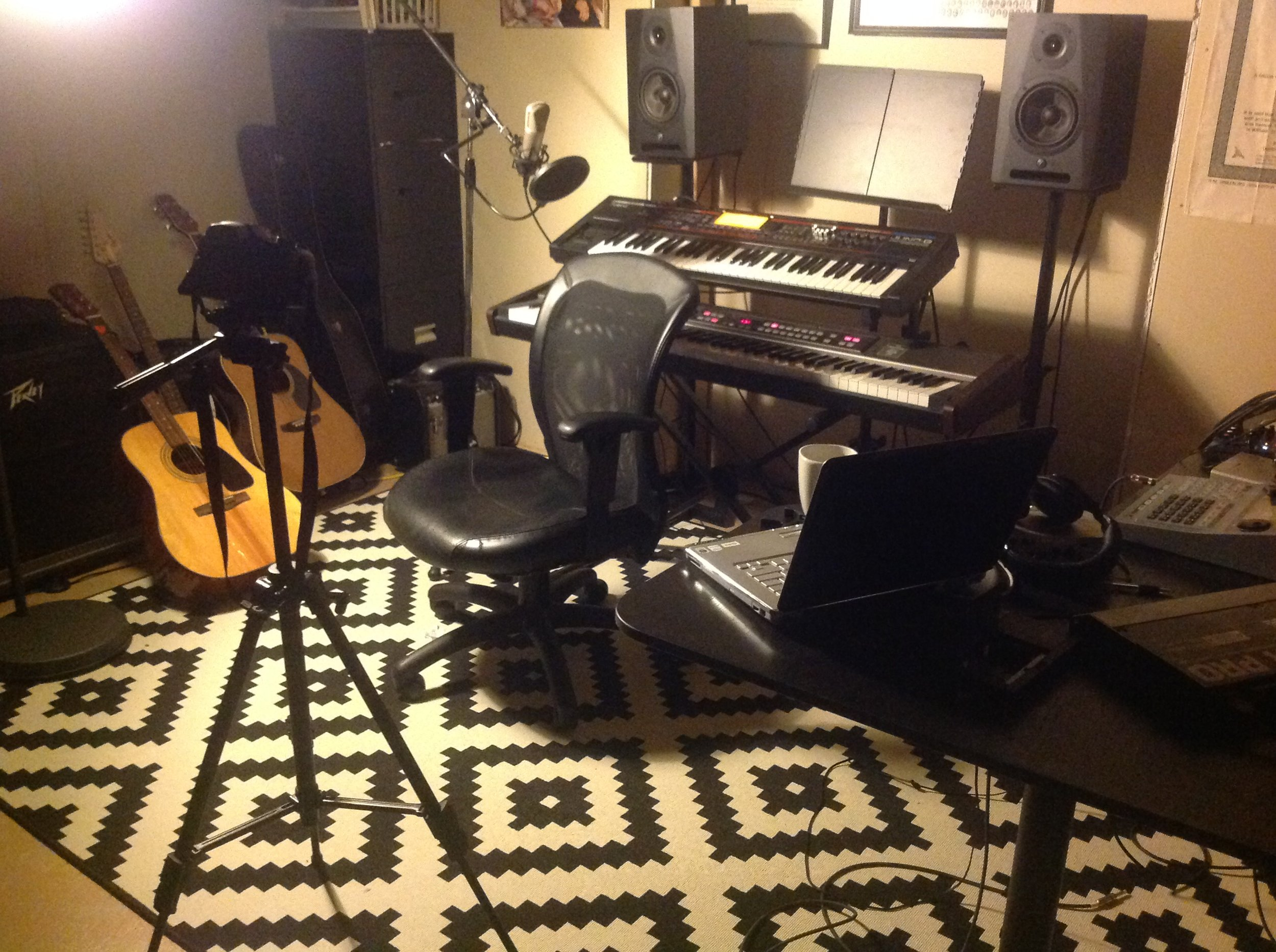 Geoff's music studio at home.