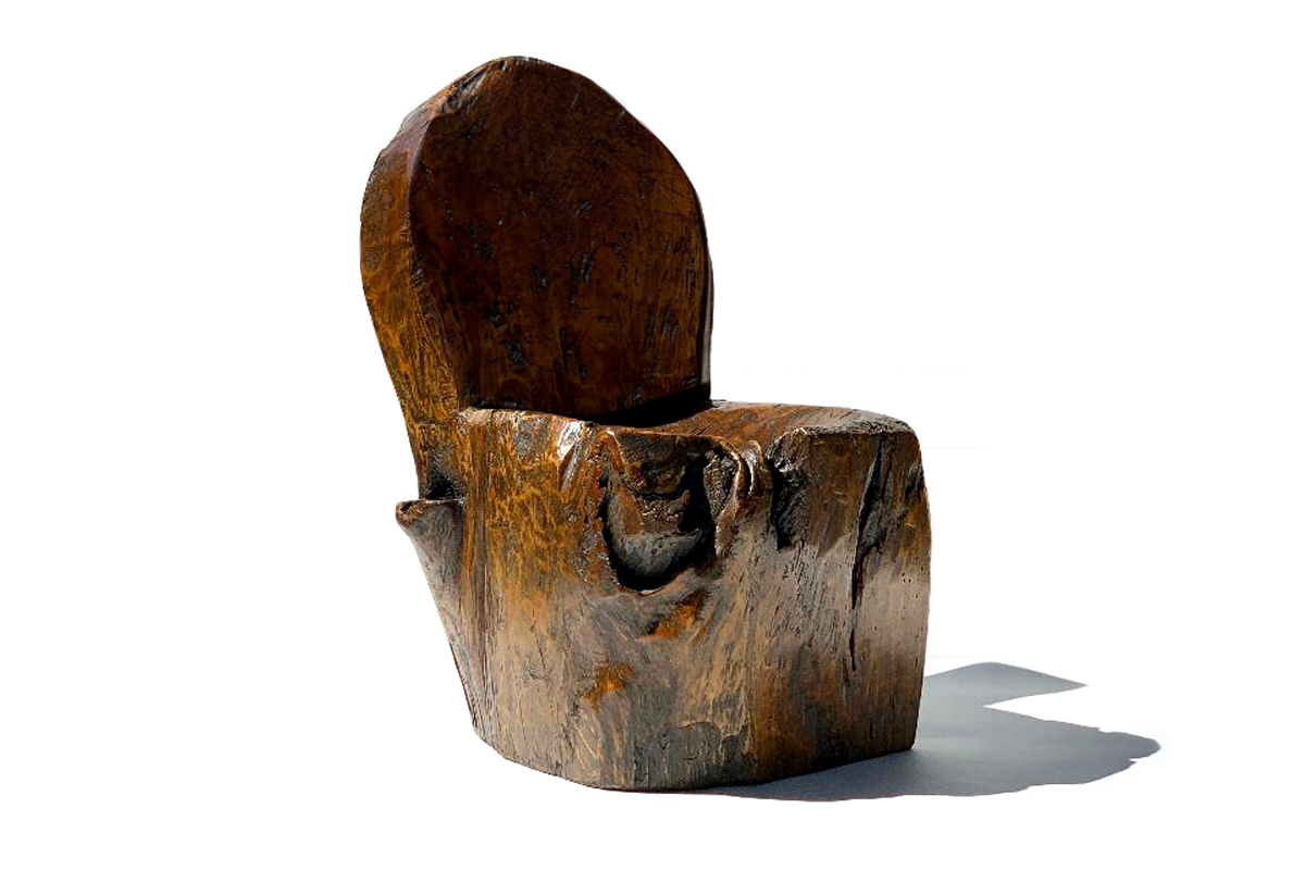 Antique Teak Chair Heavily Patinated