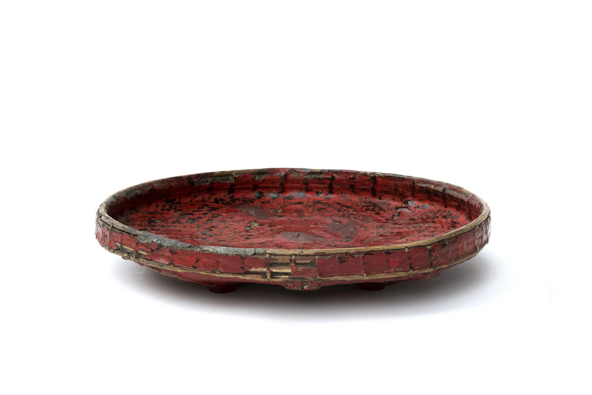 Antique Red Lacquer Tray