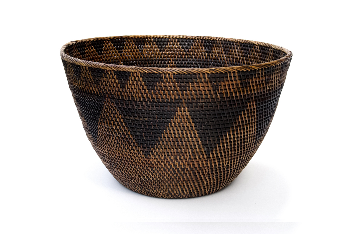 Finely Woven Tribal Gathering Basket