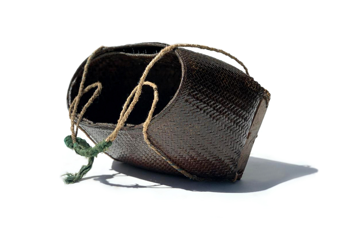 Finely Woven Footed Collecting Basket