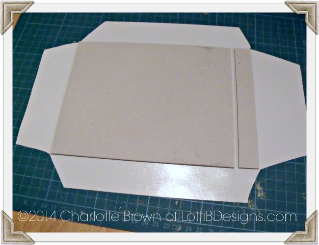 How to position the front cover ready for folding over