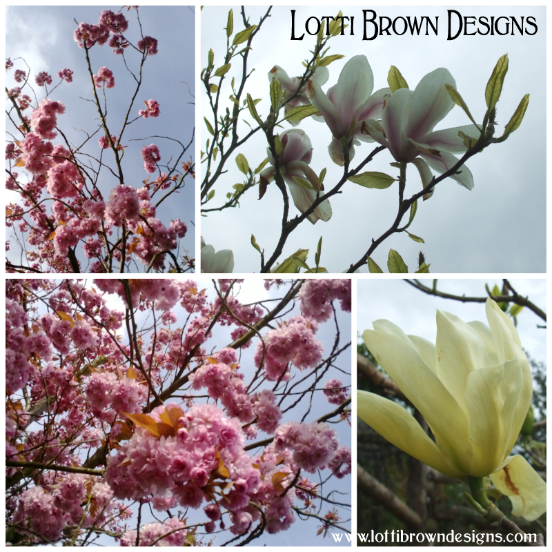 My own photos of magnolias and cherry blossom are invaluable as inspiration