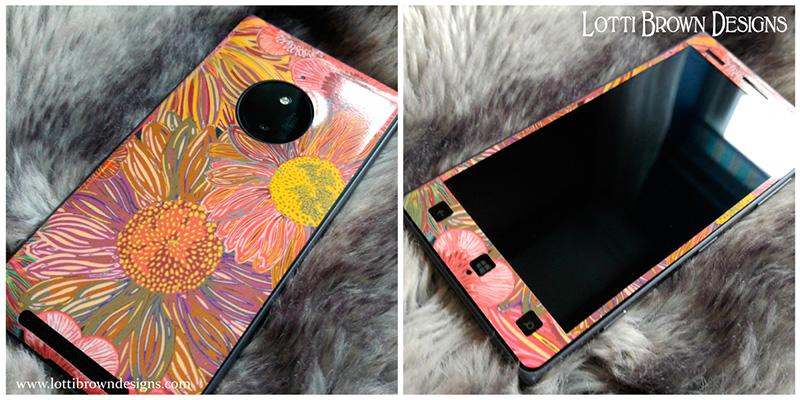 Retro Daisies phone skin