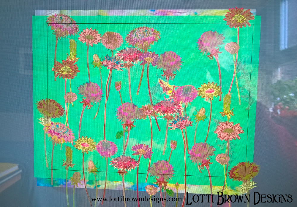 Creating the idea of a floral meadow with the layout