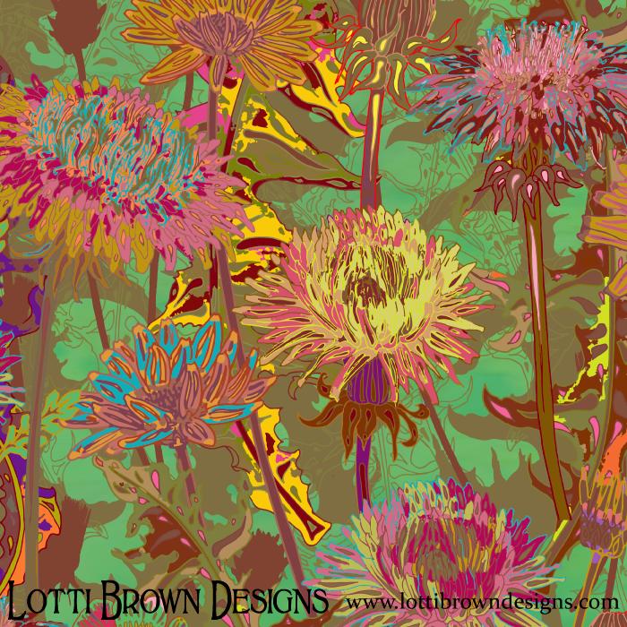 Detail of my artwork 'Dandelion Dawn'