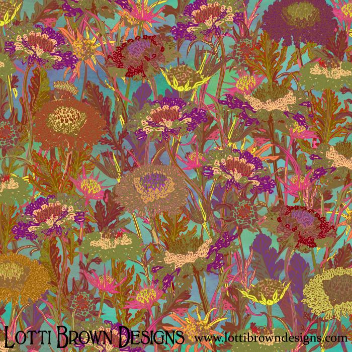 'Morning Walk' floral art print