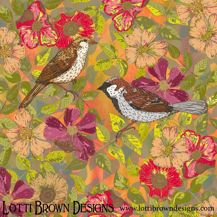 Sweet Sparrows & Briar Rose