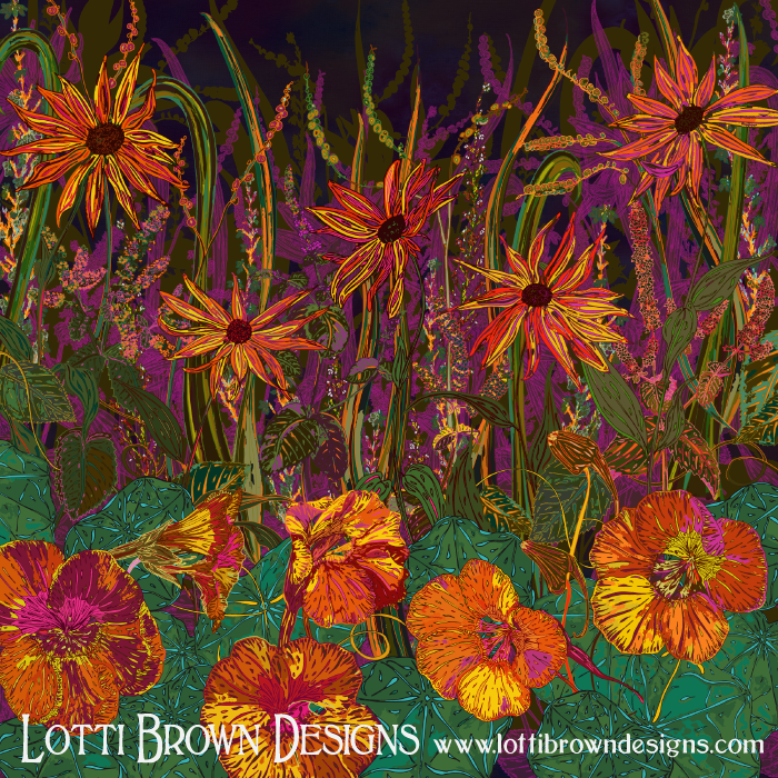 Autumn Flowers, by Lotti Brown