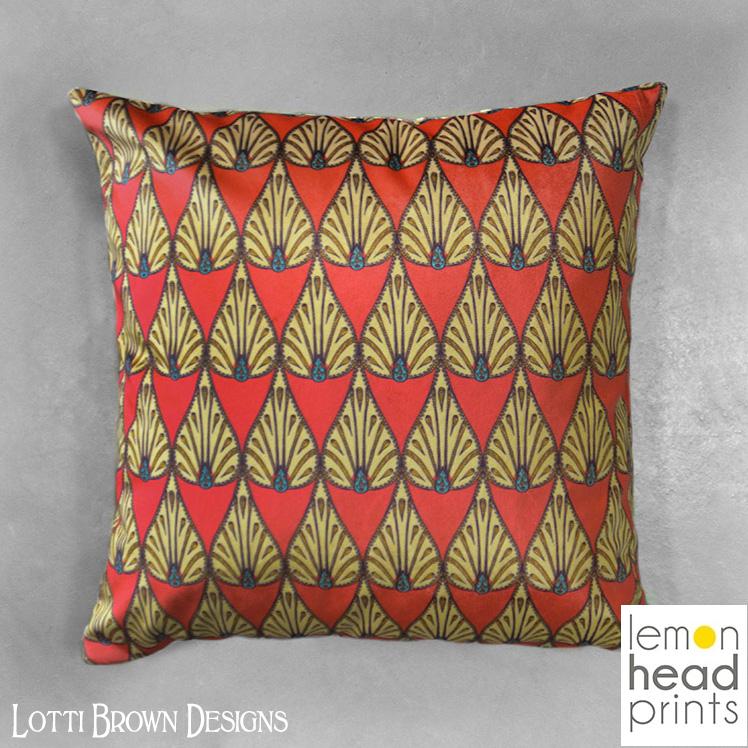 Ethnic Teardrop cushion, exclusive to Lemon Head Prints