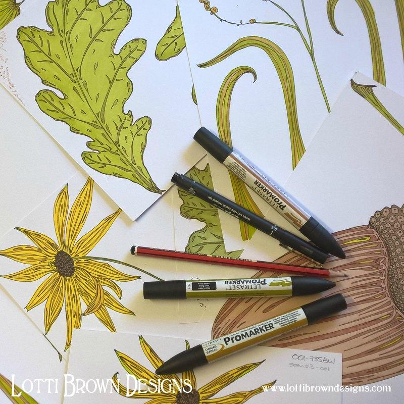 Drawing oakleaves