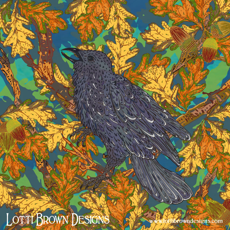 The final artwork - Raven and Oak art by Lotti Brown