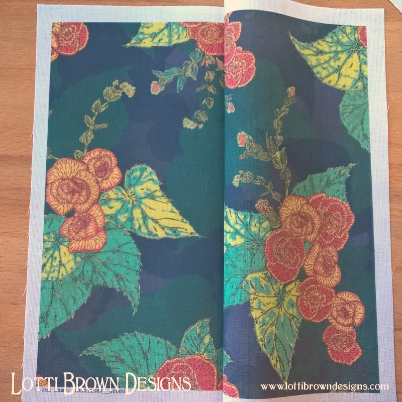 Floral fabric sample from Wovenmonkey