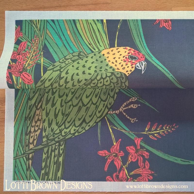 Parakeet fabric