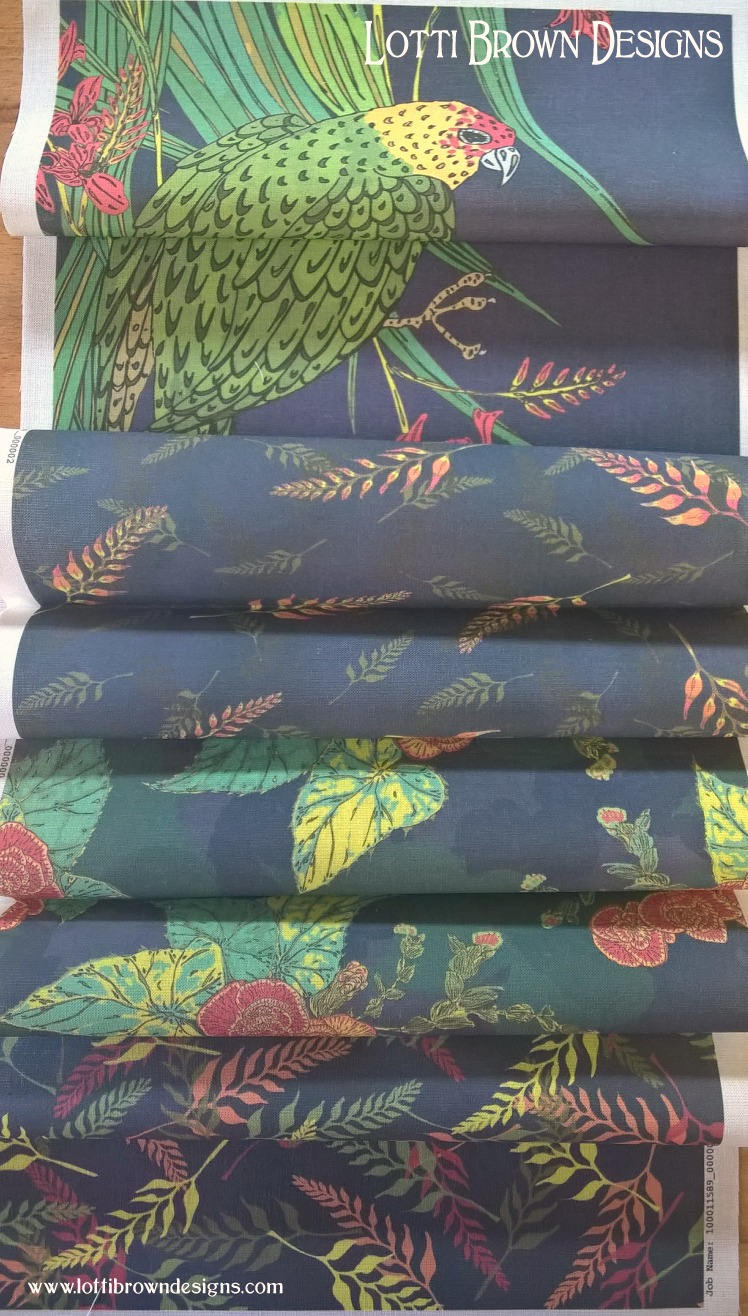 Fabric samples from Wovenmonkey