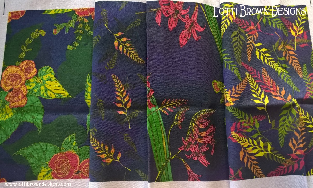 Fabric samples from Spoonflower