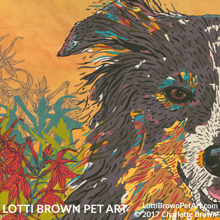 Detail from the collie artwork