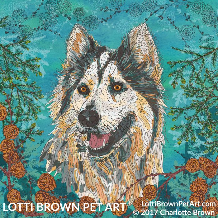 'Luna: The Call of the Wild' husky artwork by Lotti Brown