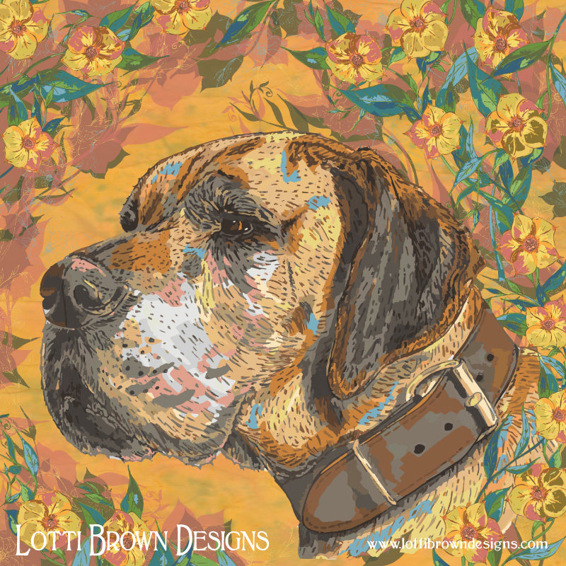 Great Dane artwork by Lotti Brown