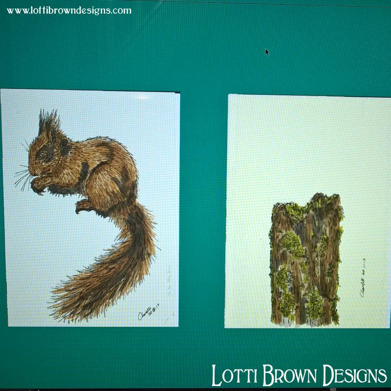 Scanned drawings