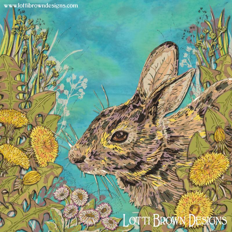 Dandy Rabbit art print - click image to go behind the scenes