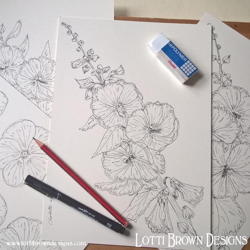 Starting my flower drawings