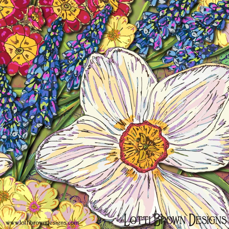 Detail from Spring Flowers artwork