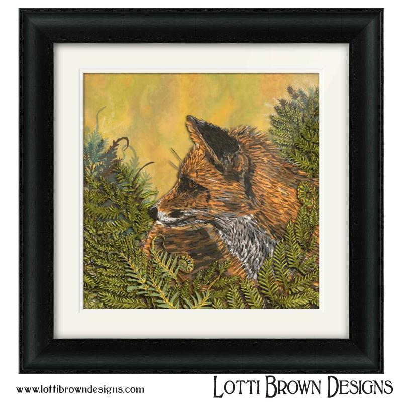 'Ferny Fox' artwork by Lotti Brown