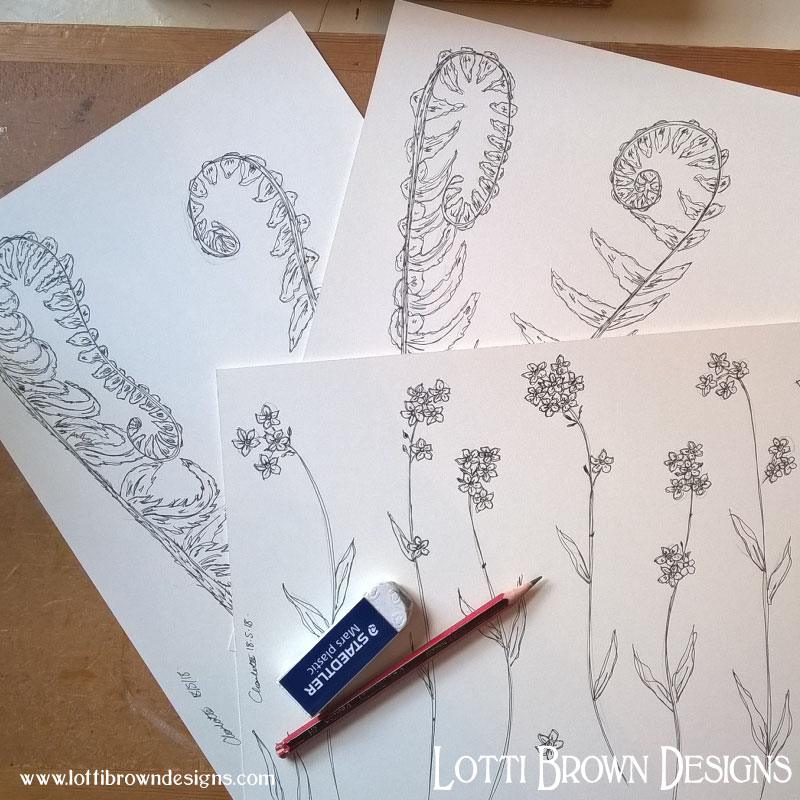 Pen and ink drawings to start my artwork