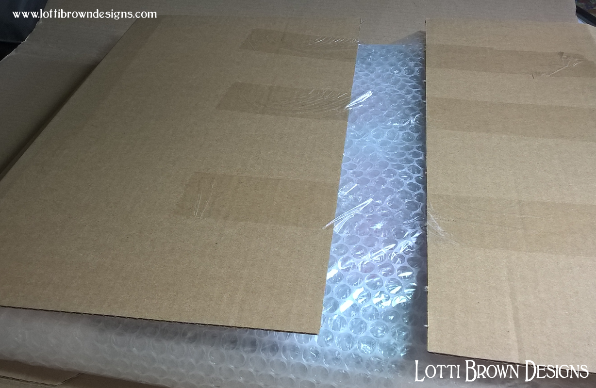 Tough packaging will protect your framed artwork as it wings its way towards you