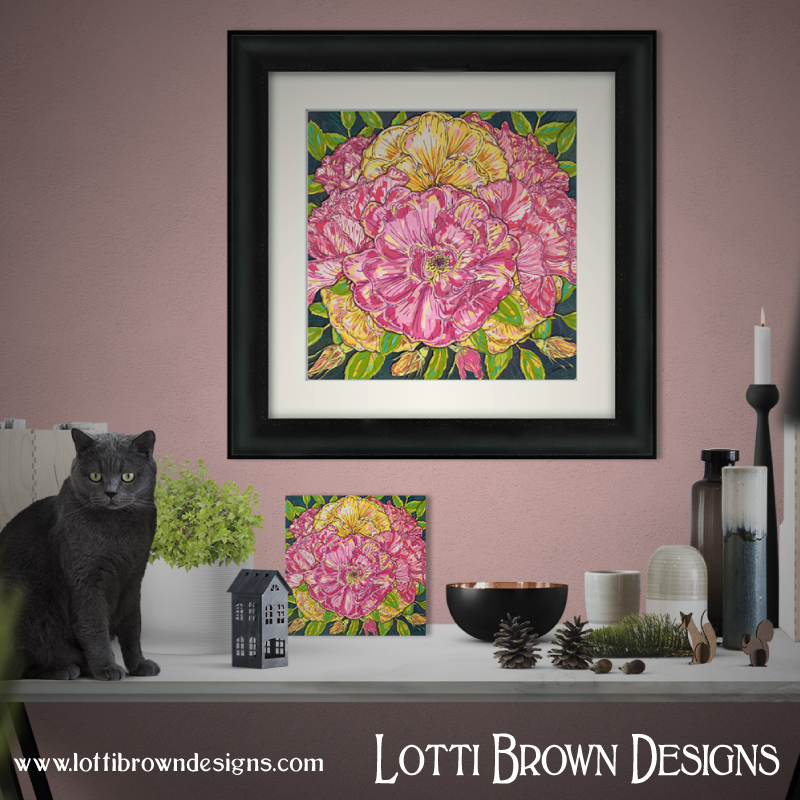 'Summer Roses' framed and unframed fine art prints are available in my store