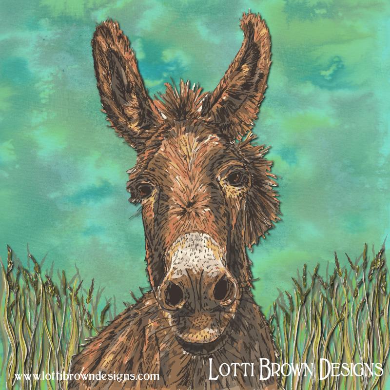 Donkey art by Lotti Brown