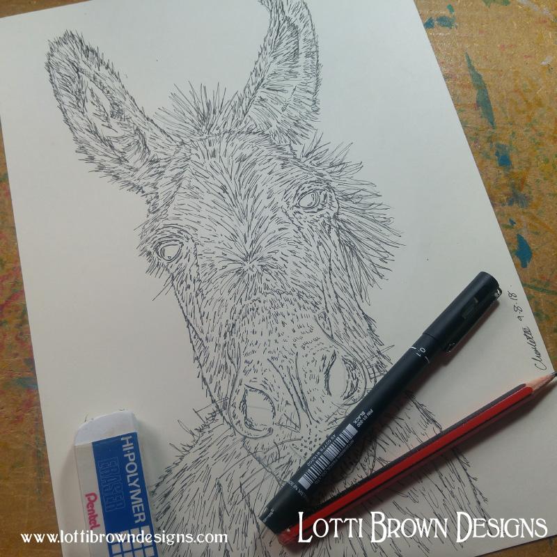 Starting to draw my donkey