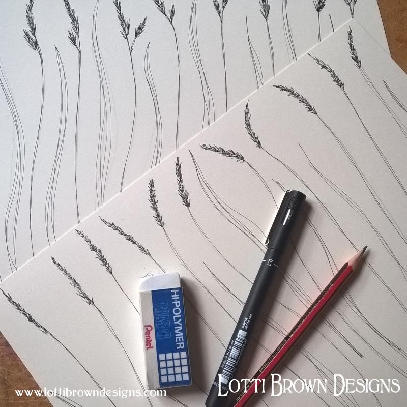 Drawing grasses