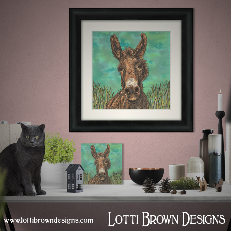 Donkey framed and unframed art prints are available in my online store