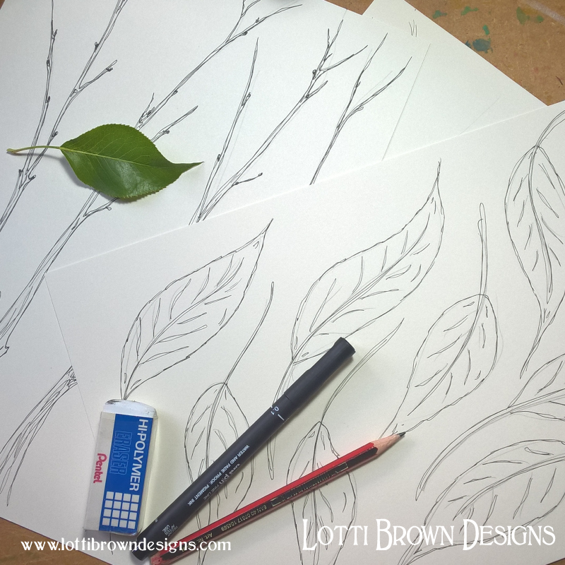 Drawing the foliage