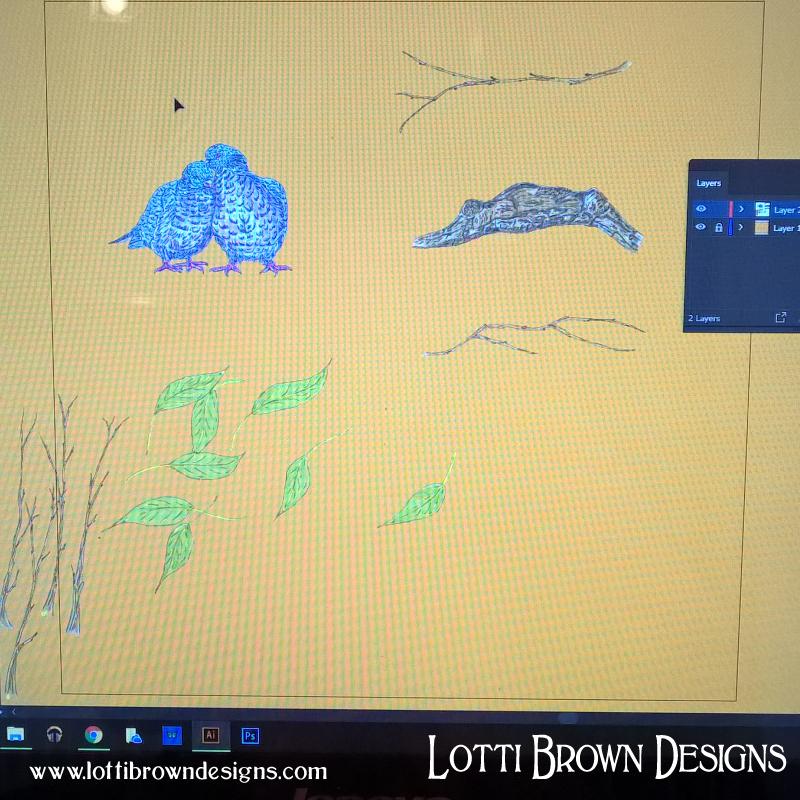Drawings scanned in
