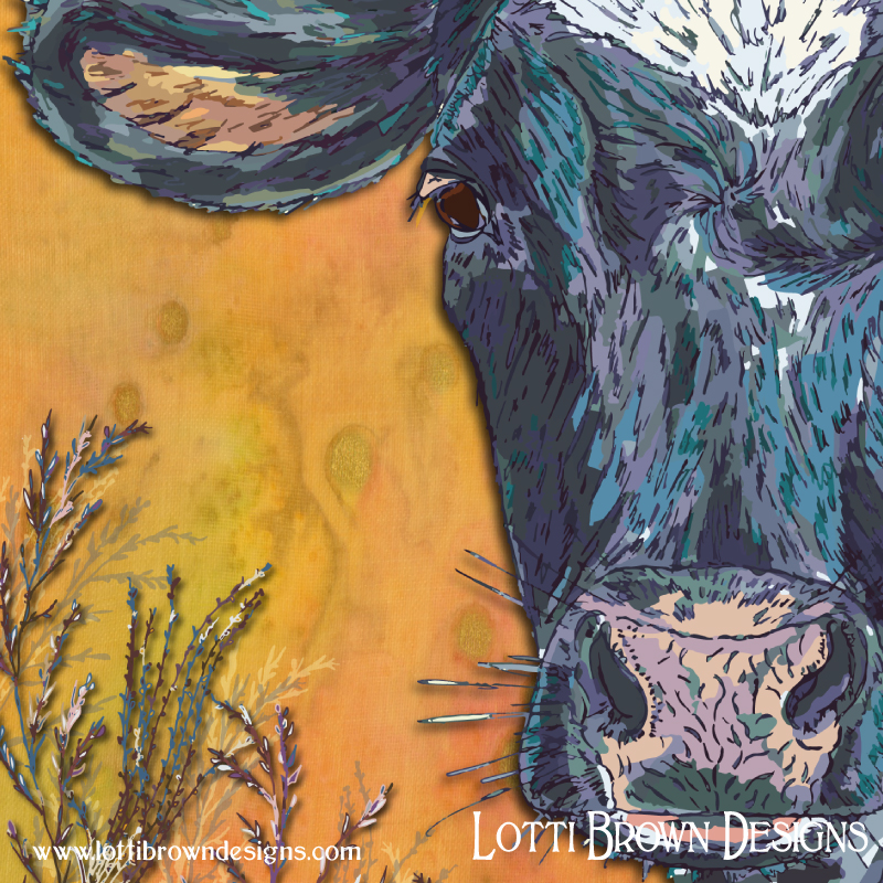 Detail from my cow art