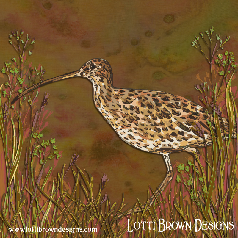 My curlew artwork is complete!