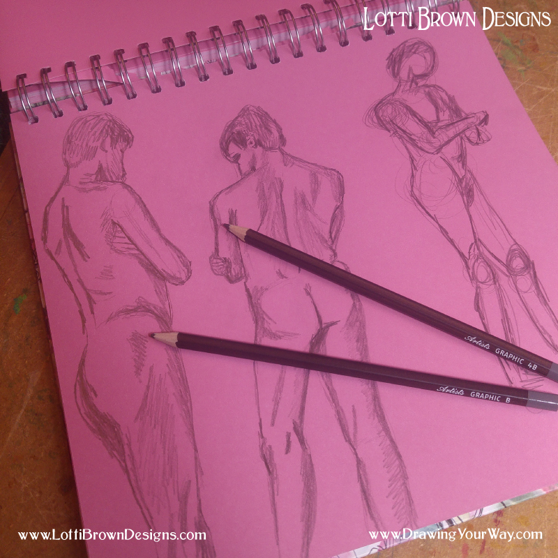 Avoiding stark white pages can help you get started with your drawing practice
