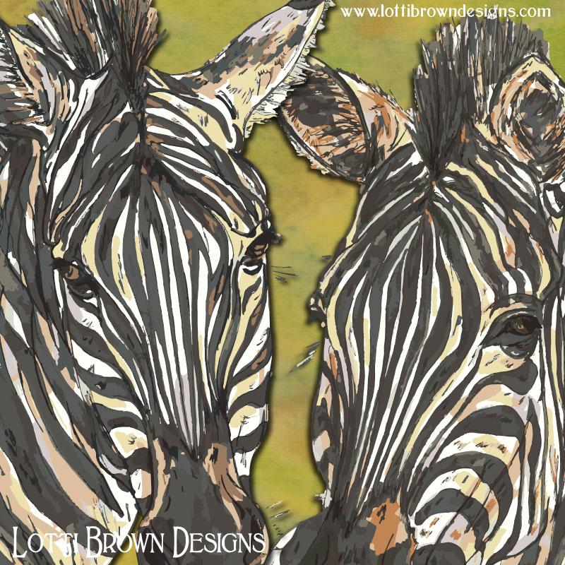 Detail from the zebra artwork
