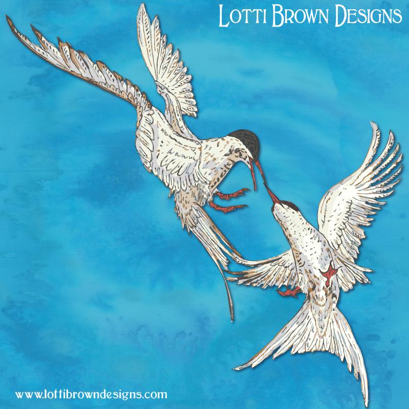 Arctic Terns Artwork - click to go behind the scenes