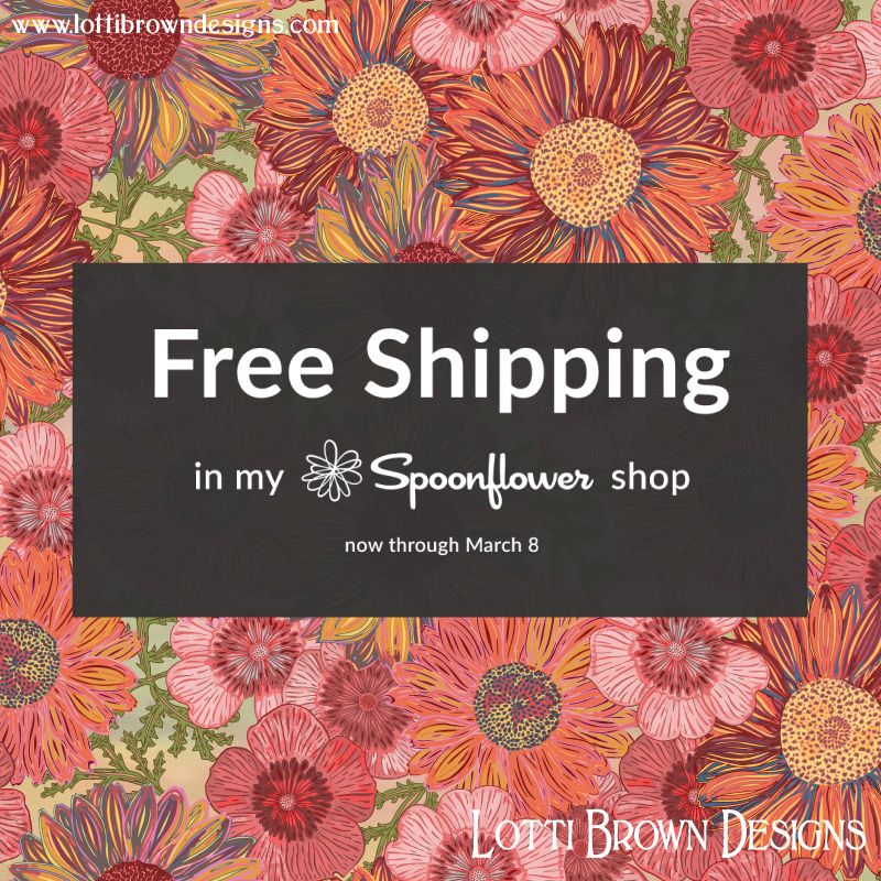 Free Shipping in my Spoonflower store for this week only